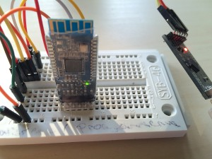 Erster Test auf einem Breadboard mit einem UART USB Konverter