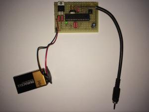 Prototyp zur Manipulation des Taschenrechners